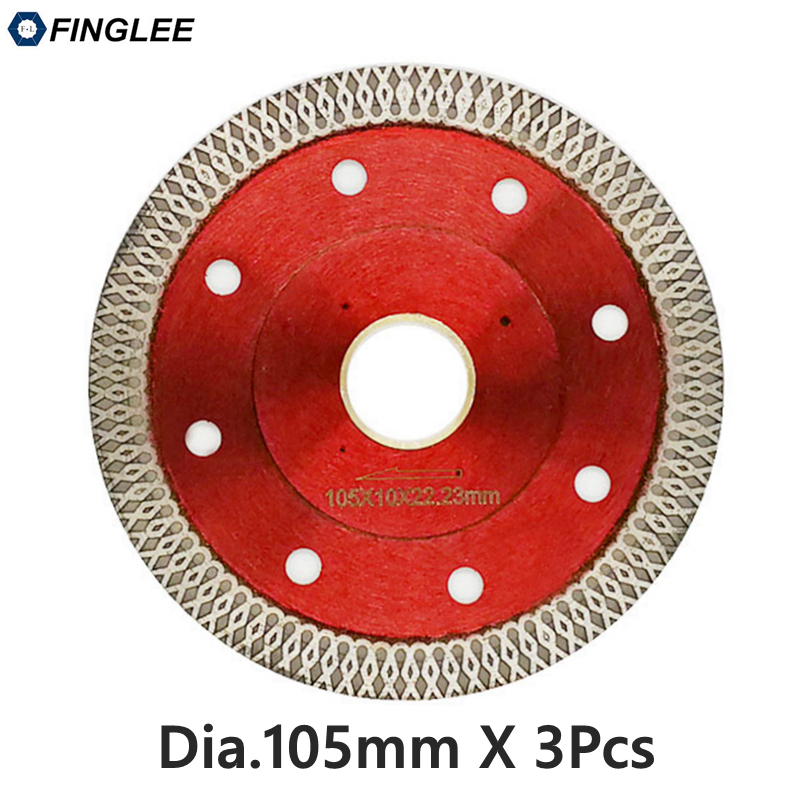 3pcs dia.105mm Wave Style Ceramic Tile Diamond Cutting Blade Disc Dry Aggressive For Stone
