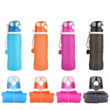 Libre de bpa 750 ml creativa sport a prueba de fugas portátil botella de agua al aire libre senderismo ciclismo gymtravel silicona plegable botella de agua