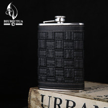 BIUBIUTUA New 9 Style 9oz Alcohol Flask Stainless Steel Mini Flasks Outdoor Portable Mini Hip Flask