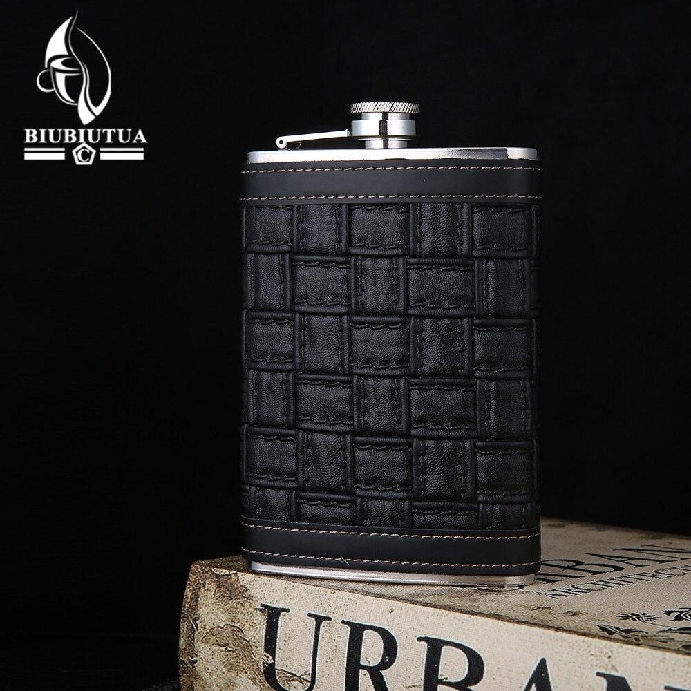 BIUBIUTUA New 9 Style 9oz Alcohol Flask Stainless Steel Mini Flasks Outdoor Portable Mini Hip Flask