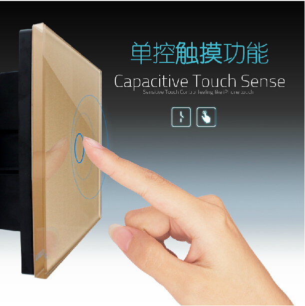 UK standard, Wireless Switch, Luxury Crystal Glass Panel,1 Gang 1 Way, Home Light Switch/Remote Touch Switch VL-C301R-63 smart home eu touch switch wireless remote control wall touch switch 3 gang 1 way white crystal glass panel waterproof power