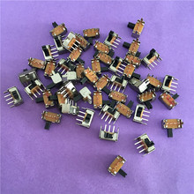 50 шт. YT1998Y SK12D07 тумблер 3Pin PCB 2 позиции 1P2T SPDT Миниатюрный скользящий переключатель Боковая ручка SK12D07VG4 высокое качество