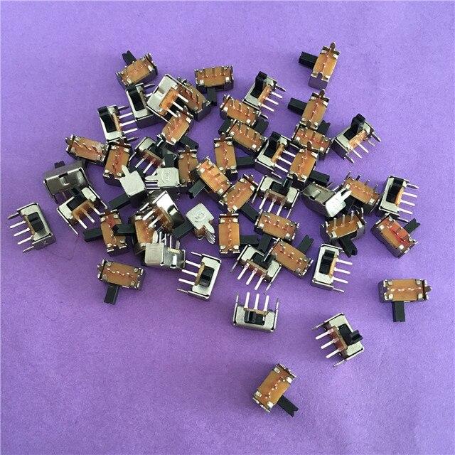 50 piezas YT1998Y SK12D07 interruptor de palanca 3Pin PCB 2 Posición 1P2T SPDT miniatura interruptor lado mando SK12D07VG4 de alta calidad