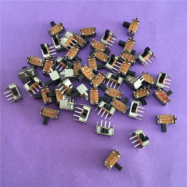 50 unids YT1998Y SK12D07 interruptor de palanca 3Pin PCB 2 Posición 1P2T SPDT miniatura interruptor lado mando SK12D07VG4 de alta calidad