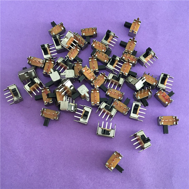 50PCS YT1998Y SK12D07 Toggle Switch 3Pin PCB 2 Position 1P2T SPDT Miniature Slide Switch Side Knob SK12D07VG4 High Quality