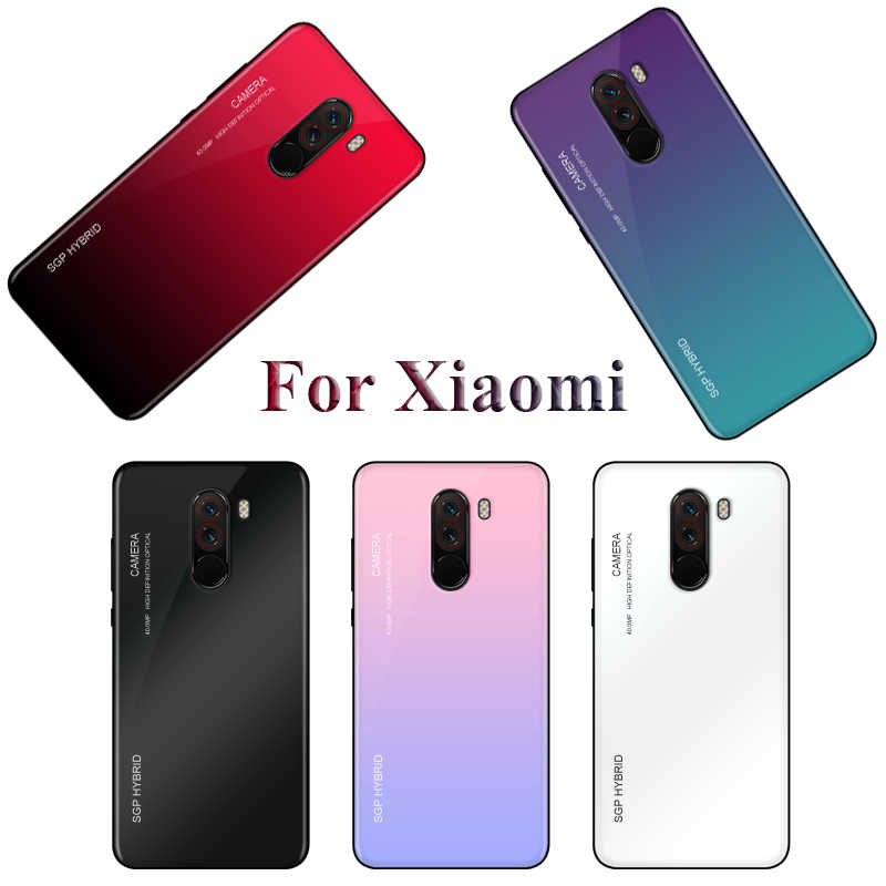 Gradient Tempered Glass Phone Case For Xiaomi Mi A1 A2 lite Mix 2 2s mi8 8 A2 Lite F1 Redmi 5 Plus S2 Note 5 5A 6 Pro Cover Case