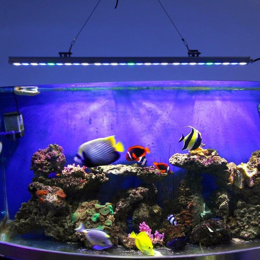 ФОТО 5pcs/lot 81W IP65 Waterproof LED aquarium light bar hard strip lamp for reef coral growth/plant freshwater fish tank lighting