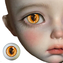 A pair BJd eyes for 1/3  1/4 1/6 bjd Dolls yellow Watercolor cartoon Bjd Eyes sd toys eyeball Acrylic EYEs comic