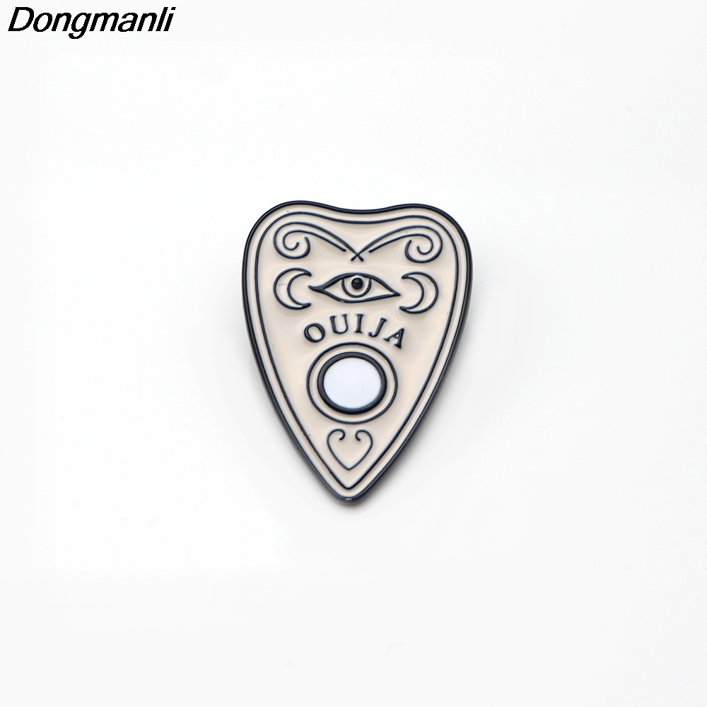 P2475 Dongmanli 20pcs lot wholesale Ouija Boards Enamel Pin Buckle Shirt Pins and Brooches