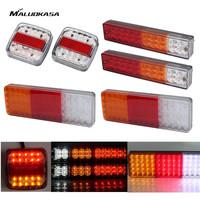MALUOKASA 2PCs Auto LED Tail Lights 12V Trailer Rear Lamp Camper Indicator Truck Reverse Light Van