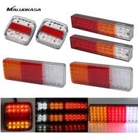 MALUOKASA 2PCs Auto LED Tail Lights 12V Trailer Rear Lamp Camper Indicator Truck Reverse Light Van