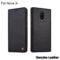 Case For Huawei Nova 3i Luxury Genuine Leather Woven Pattern Cases For Huawei Nova 3i 3 i Full Back Cover protective Nova3i