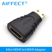 купить AIFFECT Mini HDMI Male to HDMI Female Cable Adapter Converter 24K Gold Connector HDMI Cable Adapter Device For HDTV DVD 1080P по цене 175.2 рублей