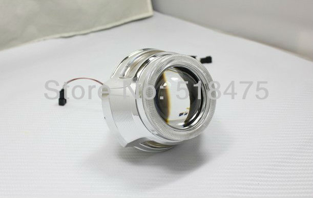 H1 H4 H13 HB3 H7 HB4 9004 9006 2.8'' inch Bi Xenon Lens Projector Double Angel Eyes 35W HID Slim Ballast royalin bi xenon projector lens h1 for mc r double angel eyes ccfl halo rings white red blue w led demon evil eyes h4 h7 bulbs