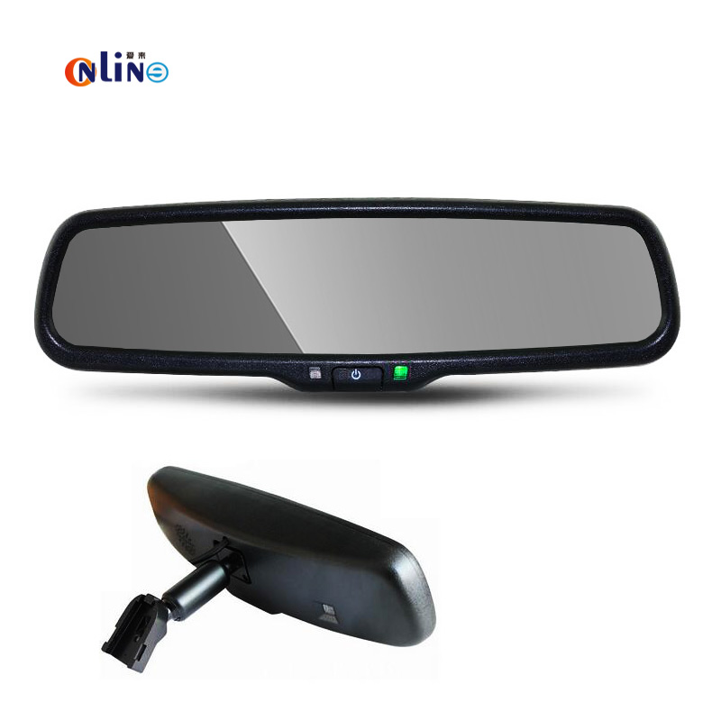 2016 Special Bracket 4.3″ TFT LCD Screen Car Rear View Rearview Mirror Monitor Video Player 2 Video Input For Rear View Camera