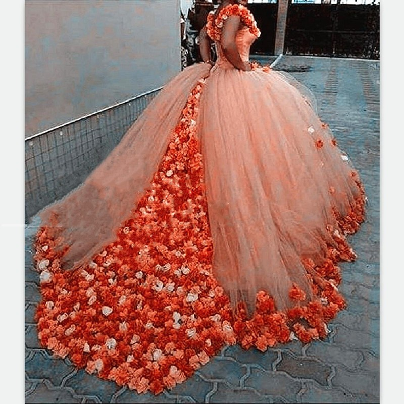 New Off Shoulder Quinceanera Dresses 2017 Rose Flowers