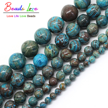 """Natural Stone Blue Crazy Lace Agata Onyx Round Losee Beads For Jewelry Making 4 6 8 10 12mm Strand 15""""Diy Bracelet-F00271"""