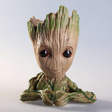 Tree Man Baby Anime Action Figure Dolls Penholder Guardians of The Galaxy Model Hero Pen Pot and Flower Pot Toys Groot(China)