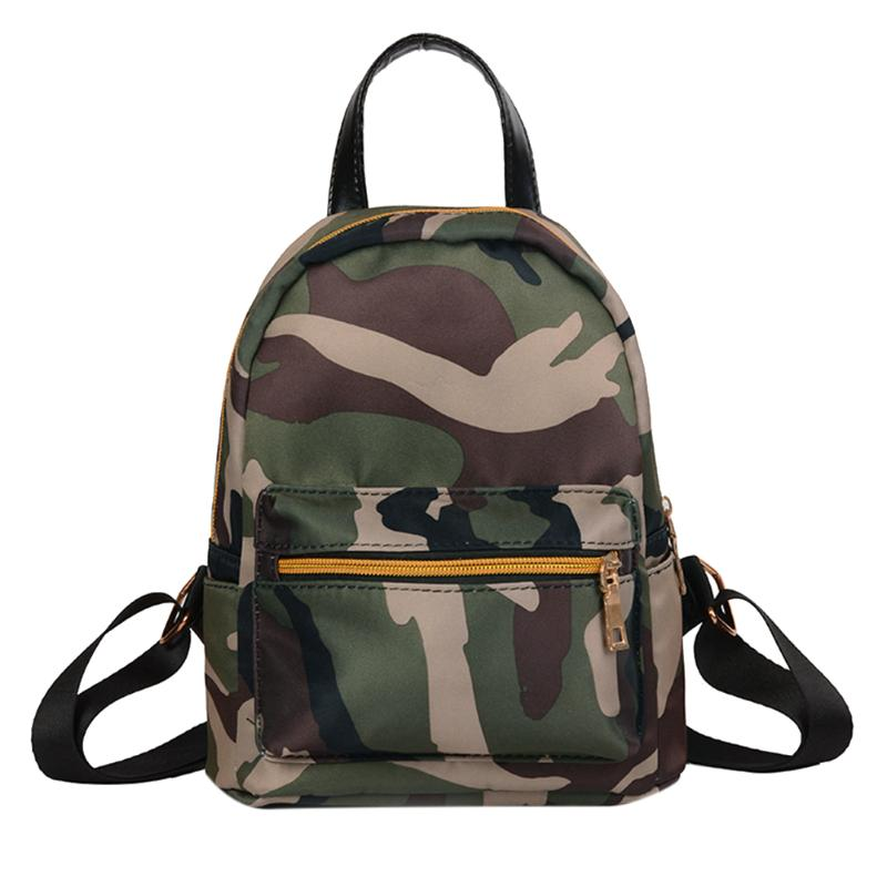Women Backpack Lady Women's Oxford Mini Backpack Female Casual Travel Bags Feminina Girls School Bags Camouflage/black Rucksack