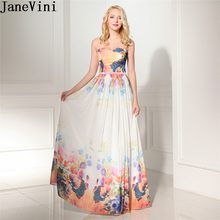 35d6449e737 JaneVini 2018 Colorful Ladies Wedding Party Dress Plus Size Sweetheart  Floral Bridesmaid Dresses Long Formal Dress Floor Length
