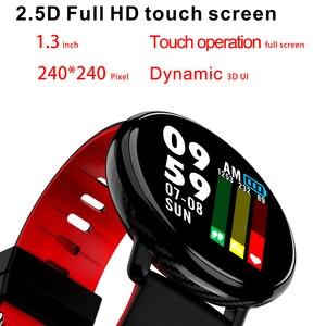 Image 1 - K1 الذكية الفرقة IP68 مقاوم للماء معدل ضربات القلب ضغط الدم رصد IPS كامل شاشة تعمل باللمس Smartwatch ل أندرويد IOS سوار
