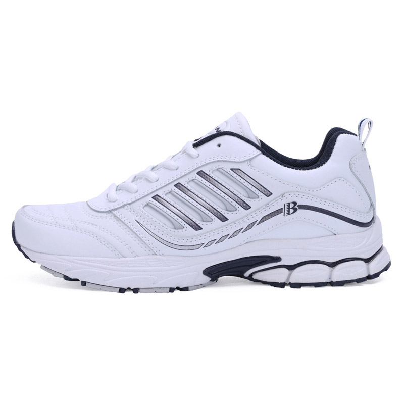 Foto from the right BONA popular running sneakers for men. Men's athletic shoes for outdoor white color