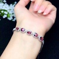 Ювелирные изделия colife 925 Серебряный турмалиновый браслет для свадьбы натуральный розовый турмалин браслет стерлингового серебра ювелирны