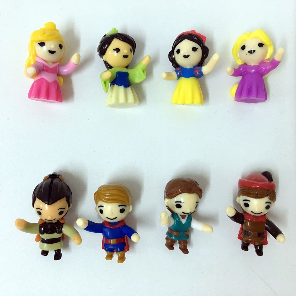 100pcs/lot lovely pvc princess serier figure anime decorative article gift