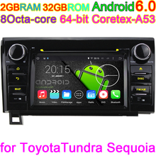 Android 6.0 Car DVD Player For Toyota Tundra Sequoia 3G 4G Radio Stereo GPS Navigation HD 1024X600 Octa Core 2GB RAM Coretex-A53