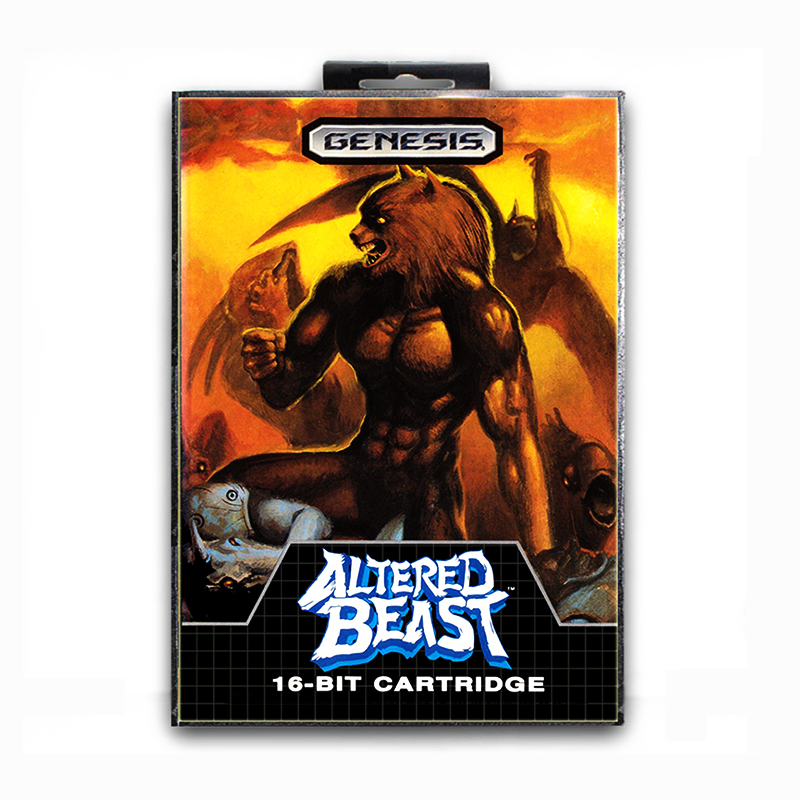 Altered Beast with Box for 16 bit Sega MD Game Card for Mega Drive for Genesis Video Console