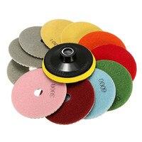 New 12PCS Set 100mm Diamond Polishing Pads Wet Dry 4 Inch Set Kit Saw Discs For