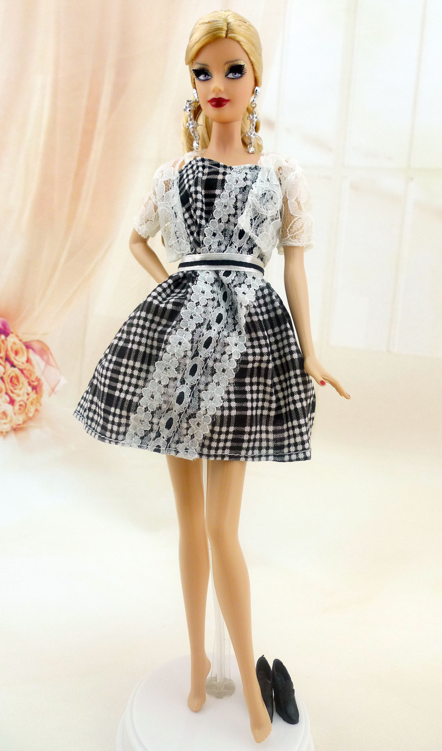 Free Shipping Princess Fashion Dress Party Gown Casual Style Skirt Shoes For Barbie Doll Best