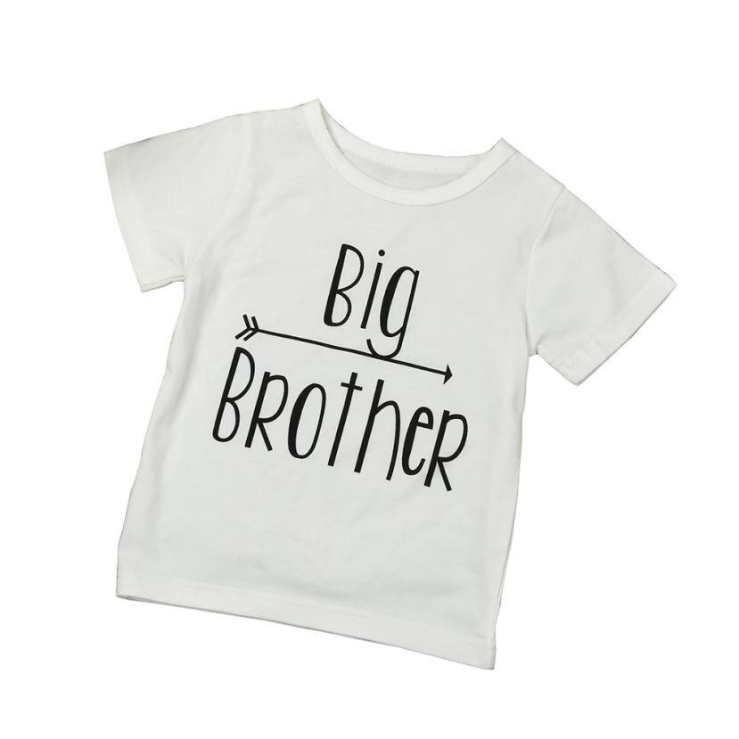 Новорожденный малыш детские для маленьких мальчиков брат печати блузка топы футболки детская одежда 5,30