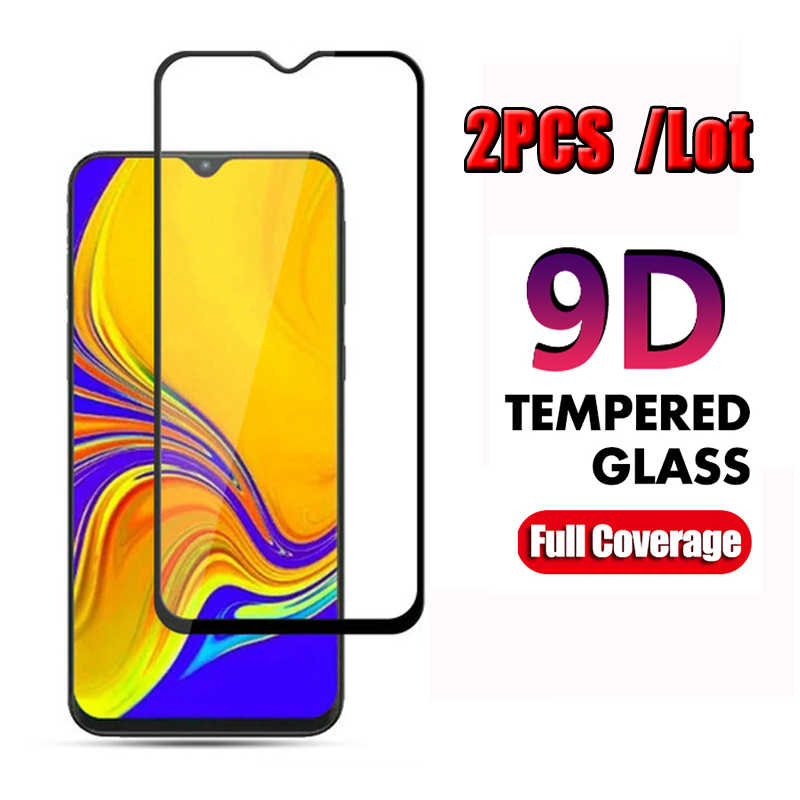 2pcs 9D Tempered Glass For Samsung Galaxy A50 A40 A20 A30 A70 A80 A60 A10 Screen Protector On For Galax M30 M20 Protective Film