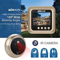 KKmoon 2.4 LCD Digital Porta Peephole PIR Olho Campainha Vídeo Porteiro Câmera HD IR Night Vision PIR Movimento detecção