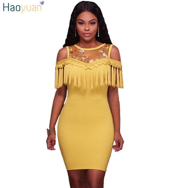 Vestido azul amarillo