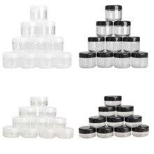 10 Stks/pak Lege Plastic Clear Cosmetische Jar Pot Oogschaduw Make Up Face Cream Container Mini Doos Monster Potten Gel Doos 10/20G