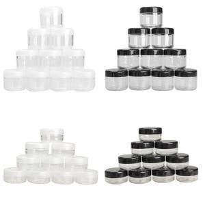Image 1 - 10 Teile/paket Leere Kunststoff Klar Kosmetische Jar Pot Lidschatten Make Up Gesicht Creme Container Mini Box Probe Töpfe Gel Box 10/20g