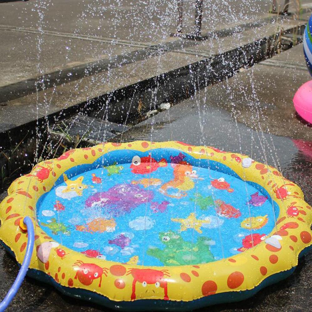Splash Water Play Mat,Sprinkle And Splash Play Mat Toy For Outdoor Swimming Beach Lawn Inflatable Sprinkler Pad Children Kids