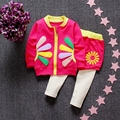 infant baby girl clothing sets 2016 new Spring toddler girls suits 2pcs long sleeve outwear cardigan jacket+pants with shorts