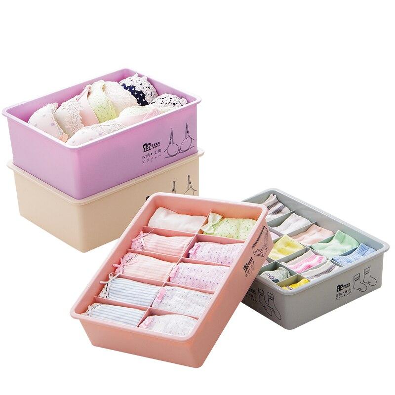 Home Storage Box Underwear Socks Bra Organizer Storage Box Drawer Closet Organizers Boxes For Underwear Bra Wardrobe Plus Size