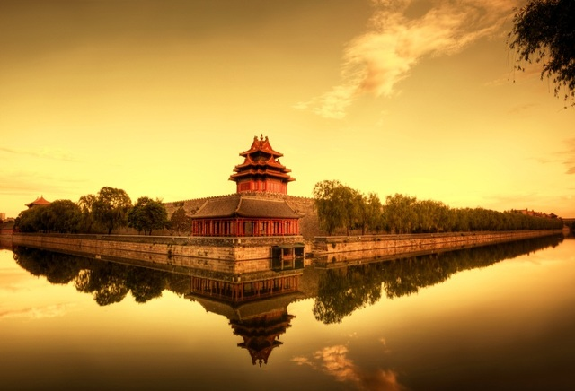 Laeacco Ancient Chinese Palace Landscape Photography Backdrops Vinyl