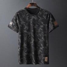 Camisetas de camuflaje de alta calidad para hombre, camisetas de marca a la moda de manga corta con cuello redondo, ropa de calle ajustada, Camiseta Masculina 6363A 2020