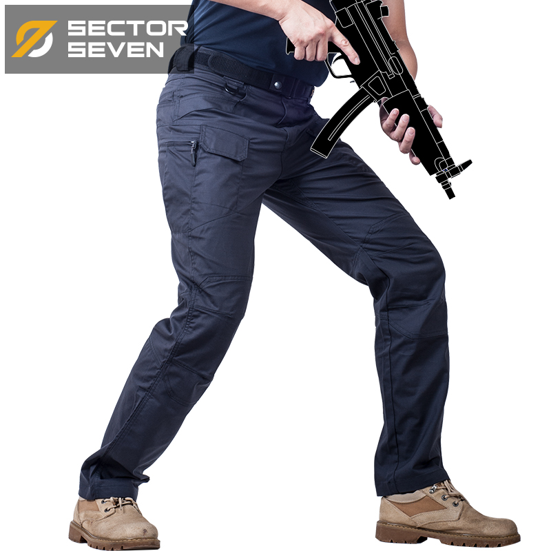 IX7 Lycra pantalones tácticos hombres impermeable juego de guerra Cargo  Pantalones Hombre Pantalones Casual Combat SWAT ejército militar activo 1c48a38a97d