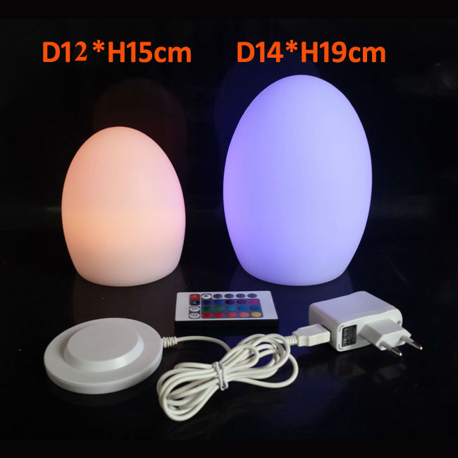 Skybesstech D12*H15cm LED Egg Table Lamps Night Light Gifts for Home decoration 2017 New CE FCC Rohs Free shipping Dropship 1pc