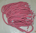 "3 ropes tornado braided titanium necklace baseball football 18"" 20"" 22""  choose your colorful clips"