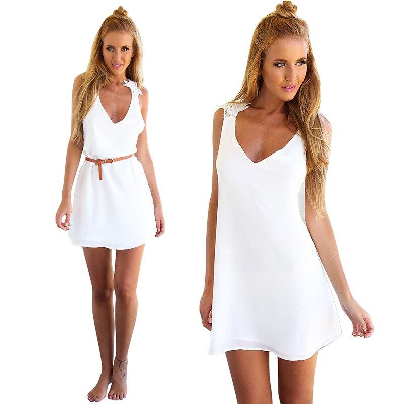 Robe sexy mini club robe fleur dos de dentelle robes nu casual blanche  nWx8A6HRn 0a4db5a9fb6