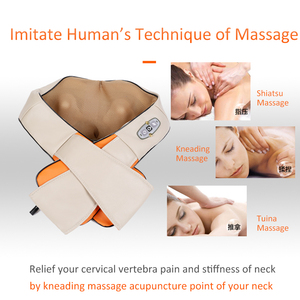 Image 3 - Dropshipping elektrische shiatsu massager neck massage gerät elektrische zurück schulter gürtel massagen körper maschine