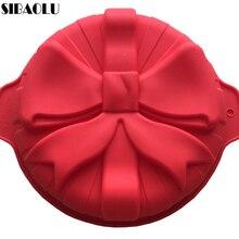 Molde de pastel de silicona moldes de postre moldes de repostería estilo grande de la Pajarita Accesorios de Cocina
