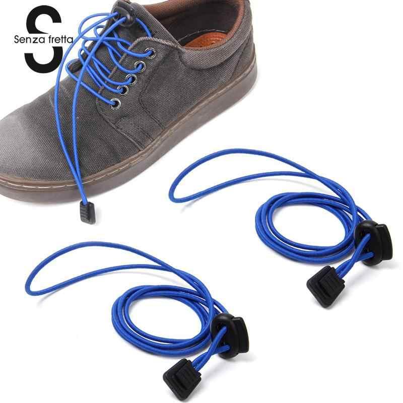 سينزا Fretta أربطة أحذية رياضية من المطاط تشغيل/الركض/الترياتلون/حذاء رياضي الأربطة النساء/الرجال لا التعادل قفل الحذاء الأربطة للجنسين